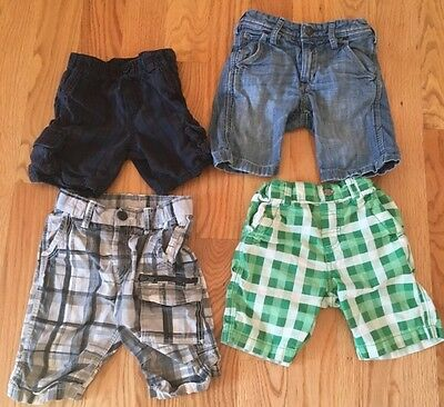 Lot Of 4 Pairs Of Shorts For Boys Toddlers Baby Kids Children. Gap And H&M. Cute