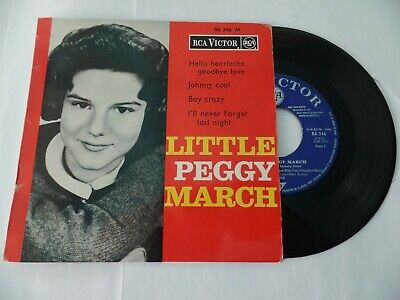 "French EP LITTLE PEGGY MARCH ""Hello heartache, goodbye love"" + 3 (EX-/VG+)"
