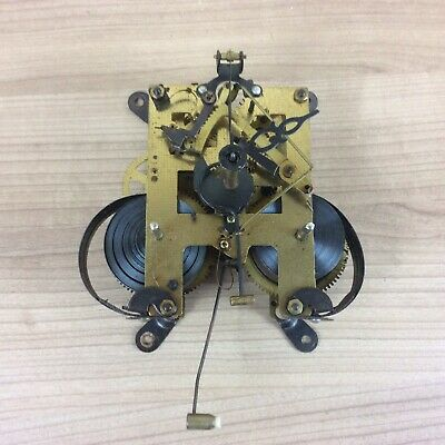 Vintage Mantle Clock Movement For Spares Or Repair #3