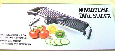 "NEW ""Mandoline Dial Slicer"" Simple To Use,Easy To Clean,Stainless Steel"