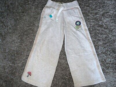 Girls Clothes next beige jog bottoms logos age 3/4 years