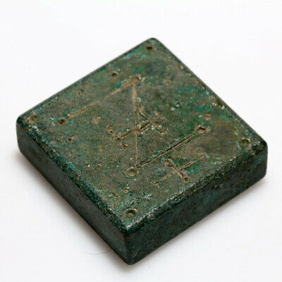 ANCIENT BYZANTINE BRONZE SQUARE WEIGHT CIRCA 500-700 AD-114.84gr