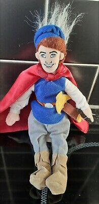 "Disney Store Snow White's Prince Florian 10"" Doll Soft Toy. Rare & hard to find"