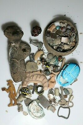 HUGE LOT OF 1 Kg ANCIENT FROM 4500 BC TO 18 CENTURY ARTIFACTS-VARIOUS MATERIALS