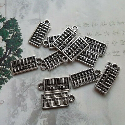 8pcs Small abacus Charms Pendants Antique Silver Tone 25*13mm,Jewelry Making DIY