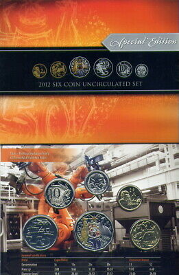 2012 MINT  SET with COLOURED SCARCE 50 CT COIN      NO   RESERVE