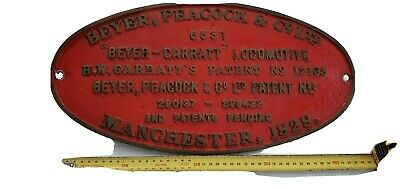 Railway Plate reproduction 1970s