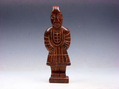Vintage Nephrite Jade Stone Sculpture Ancient Terracotta Warrior #05221908