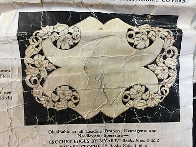 """""""Floral Cutwork""""  ❤️   Vintage  Stamped Linen To Embroider a Traycloth by Myart"""