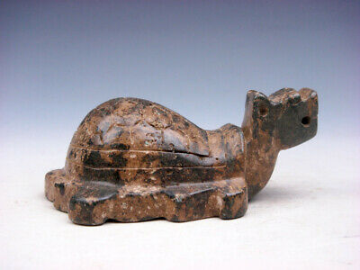 Old Nephrite Jade Stone Carved Sculpture Ancient Dragon Turtle #11021903