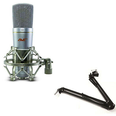 Cannon Podcaster Pack - USB Professional Microphone with Broadcast Stand & Cable