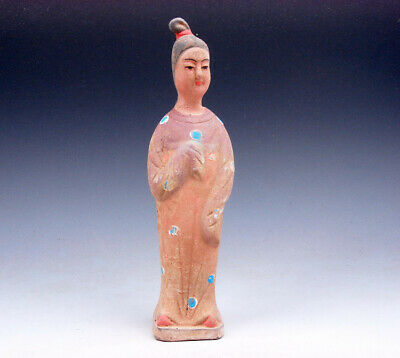 Vintage Chinese Pottery Hand Crafted Ancient Figurine Sculpture #09291706C