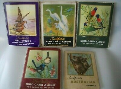 5 Albums Of Tuckfields Bird & Animal Cards 3 complete 2 Nearly
