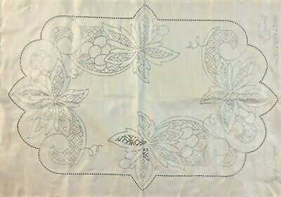 VINTAGE  ❤️    Stamped Linen To Embroider a Traycloth by Myart   #CN.1388