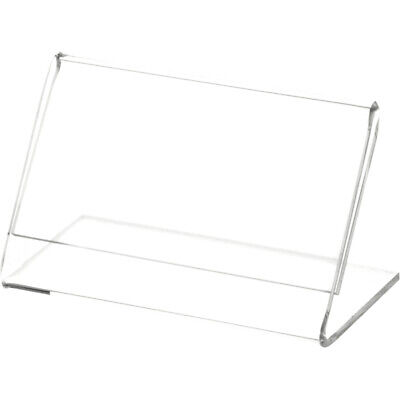 "Plymor Clear Acrylic Sign Display / Literature Holder (Angled), 3.5"" W x 2"" H"
