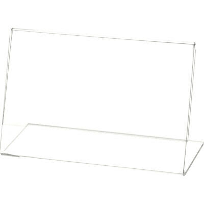 "Plymor Clear Acrylic Sign Display / Literature Holder (Angled), 5.5"" W x 3.5"" H"