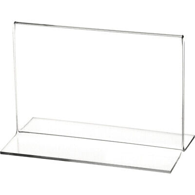 "Plymor Clear Acrylic Sign Display/Literature Holder (Bottom-Load), 5.5""W x 3.5""H"