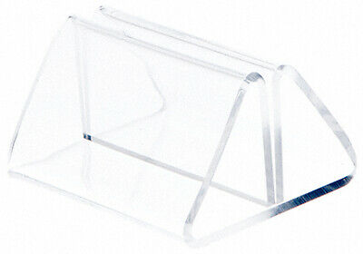 """Plymor Acrylic Pinch-Style Sign Clip Display w/ Label Front, 2""""Wx1.875""""Dx1.25""""H"""