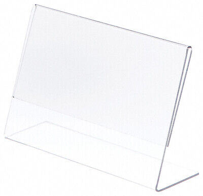 "Plymor Clear Acrylic Sign Display / Literature Holder (Angled), 8.5"" W x 5.5"" H"