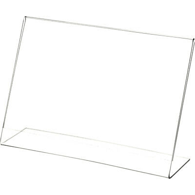 """Plymor Clear Acrylic Sign Display / Literature Holder (Angled), 9"""" W x 6"""" H"""