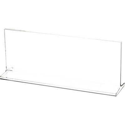 "Plymor Clear Acrylic Sign Display / Literature Holder (Top-Load), 10"" W x 3.5"" H"