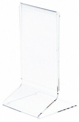 """Plymor Clear Acrylic Sign Display / Literature Holder (Side-Load), 3"""" W x 5"""" H"""
