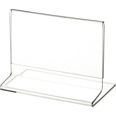 """Plymor Clear Acrylic Sign Display / Literature Holder (Side-Load), 5"""" W x 3"""" H"""