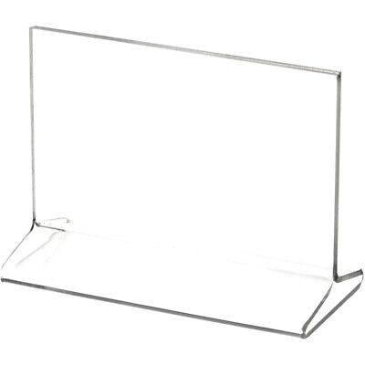 "Plymor Clear Acrylic Sign Display / Literature Holder (Top-Load), 5"" W x 3"" H"