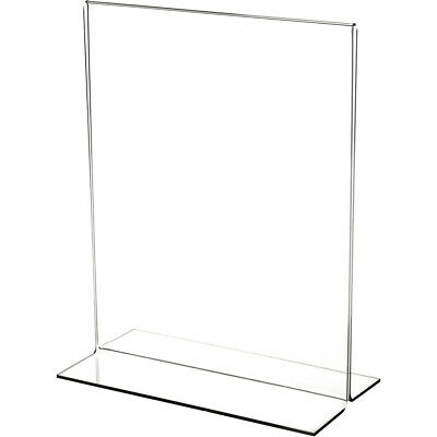 "Plymor Acrylic Sign Display / Literature Holder (Bottom-Load), 4"" W x 6"" H"