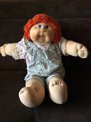 Cabbage Patch Kid vintage 1982 red head in original clothes
