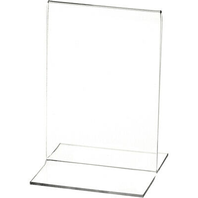 "Plymor Clear Acrylic Sign Display/Literature Holder (Bottom-Load), 3.5"" W x 5"" H"