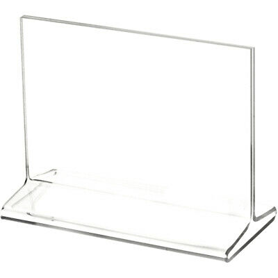 "Plymor Clear Acrylic Sign Display / Literature Holder (Top-Load), 5"" W x 3.5"" H"