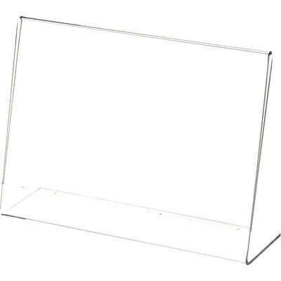 """Plymor Clear Acrylic Sign Display / Literature Holder (Angled), 7"""" W x 5"""" H"""