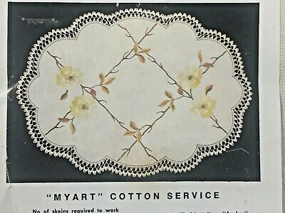 """""""Yellow Rose"""" ❤️ Vintage  Stamped Linen To Embroider a Traycloth by Myart #1522"""