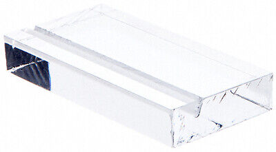"""Plymor Clear Acrylic Block with Sign Display Holder Slot, 3"""" W x 1.5"""" D x .5"""" H"""