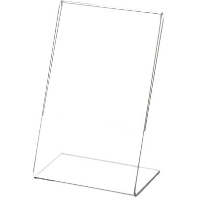 "Plymor Clear Acrylic Sign Display / Literature Holder (Angled), 3.5"" W x 5.5"" H"