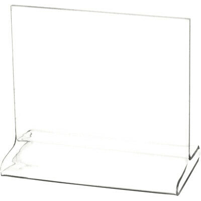 "Plymor Clear Acrylic Sign Display / Literature Holder (Top-Load), 5"" W x 4"" H"
