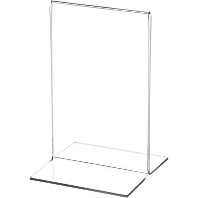 "Plymor Clear Acrylic Sign Display/Literature Holder (Bottom-Load), 3.5""W x 5.5""H"