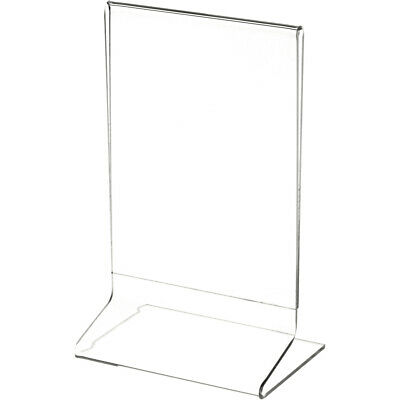 """Plymor Clear Acrylic Sign Display / Literature Holder (Side-Load), 4"""" W x 6"""" H"""