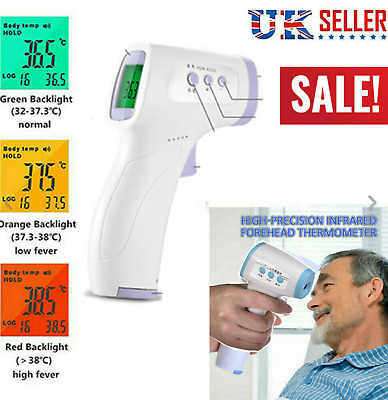 IR Infrared Digital Forehead Fever LCD Thermometer Non-Contact Baby Adult Body