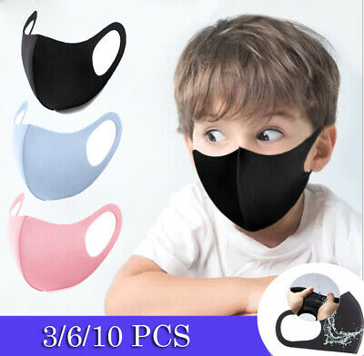 Kids Child Anit Pollution Haze Face Mouth Mask Respirator Protection UK