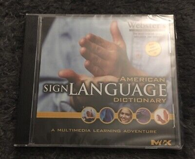 Webster's American Sign Language Dictionary CD ROM