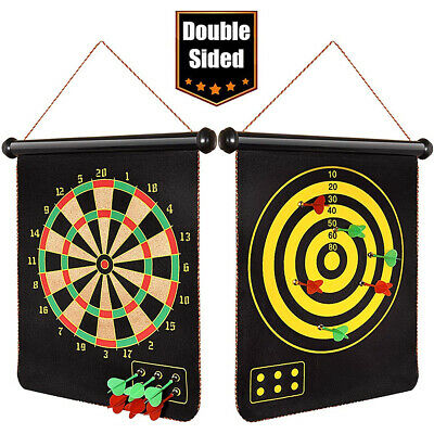 Magnetic Dart Board Games Double-Sided Dartboard Set Indoor Games Large Suction