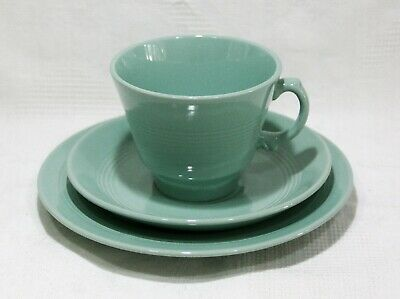 Vintage Woods Ware Green Beryl Tea Cup and Saucer