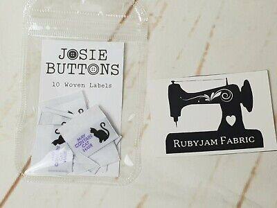 May Contain Cat Hair - sew in woven tags clothing label FREEPOSTAU