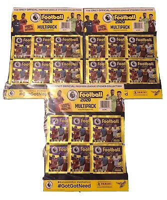 Panini Premier League 2020 Stickers 3 X Multi Packs = 18 Packs Brand New Sealed