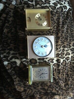 3x Carriage Clocks Spares Or Repair