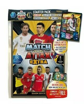 Match Attax Extra Starter Pack 2019/20 Includes Neymar Gold Limited Edition
