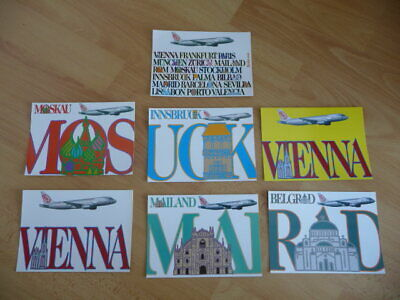 7 Airline issued post cards from NIKI flyNiki.com