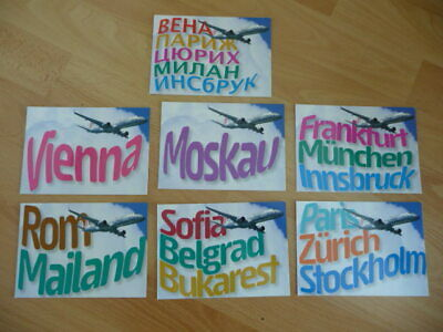 7 Airline issued post cards from NIKI